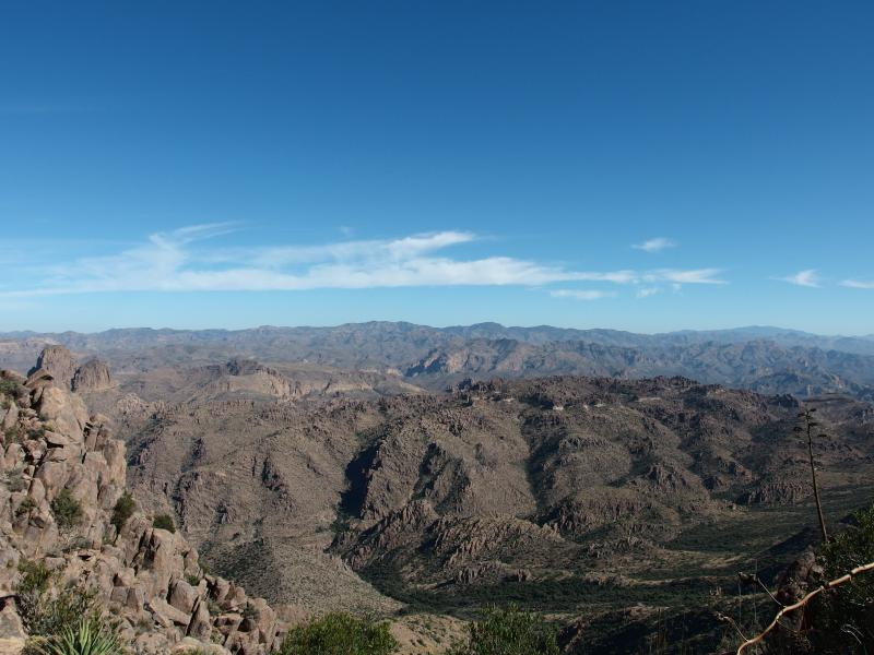 Rugged Superstition Wilderness to the east