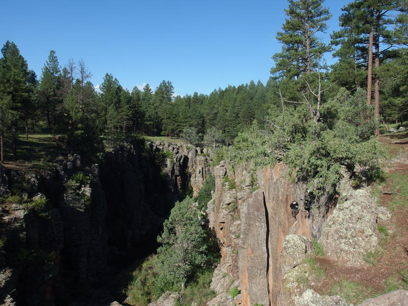 Steep canyon walls above Sycamore Falls