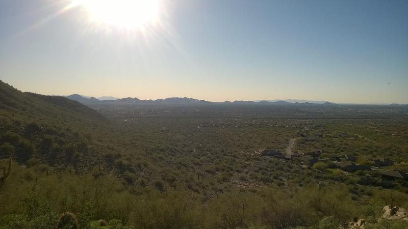 Bright sun over northern Scottsdale