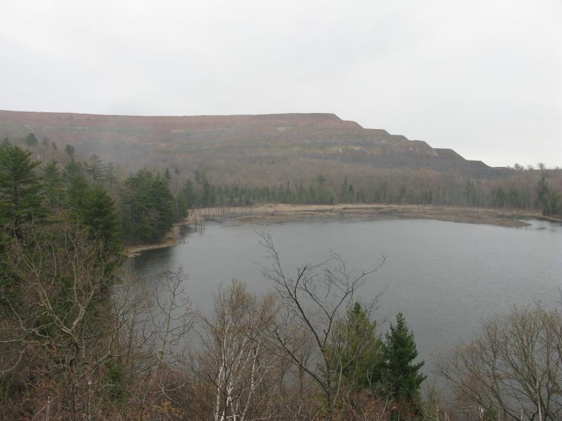 Grass Lake and the mine beyond