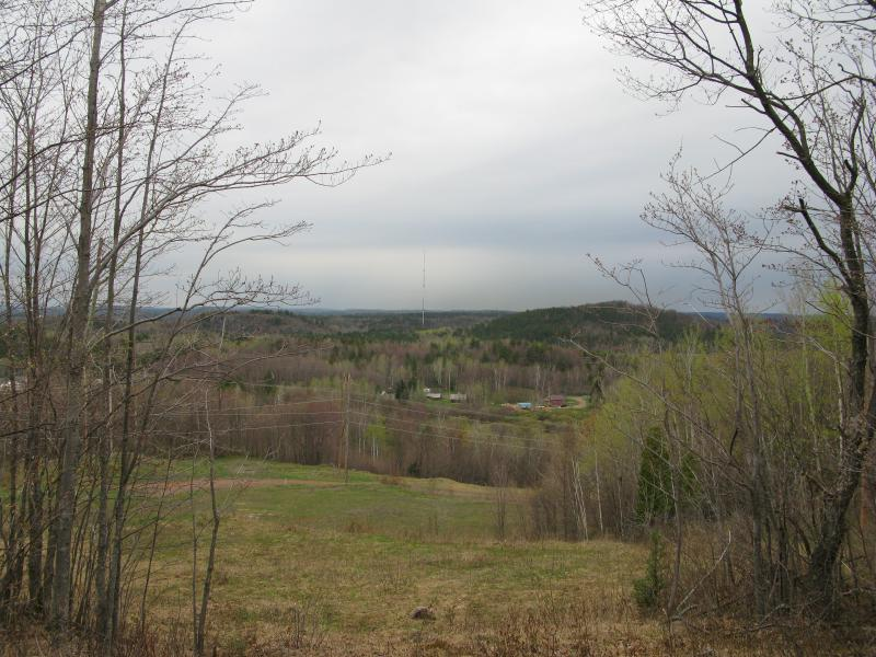 Partial views north towards Negaunee/Ishpeming