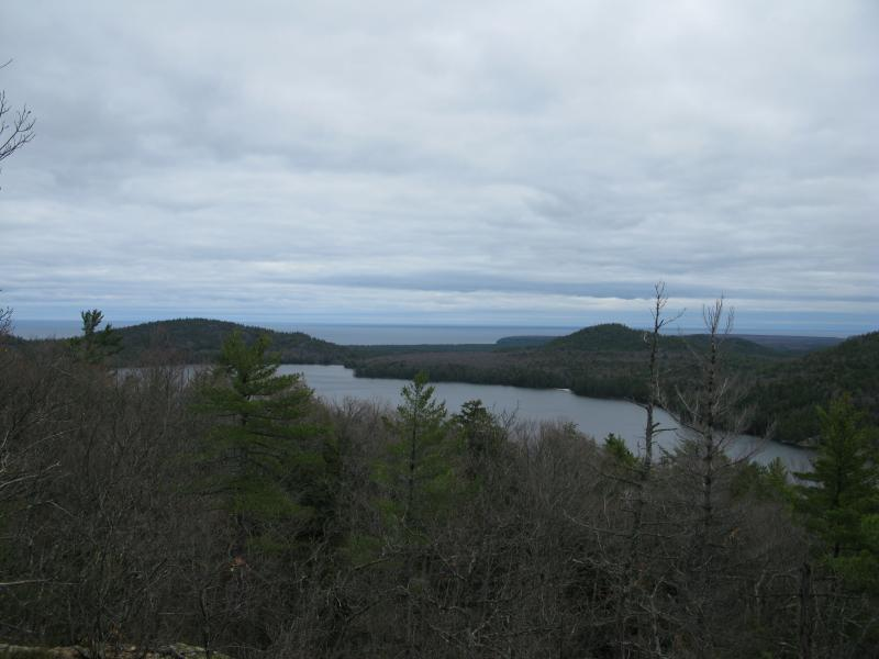 Looking north up Mountain Lake to Lake Superior be