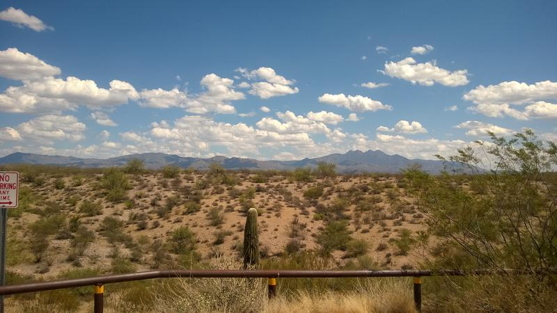 A familiar vantage point of Four Peaks