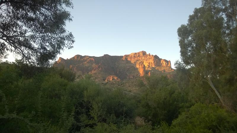 Picketpost Mountain in the early morning light
