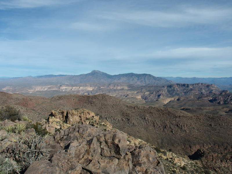 Four Peaks to the north