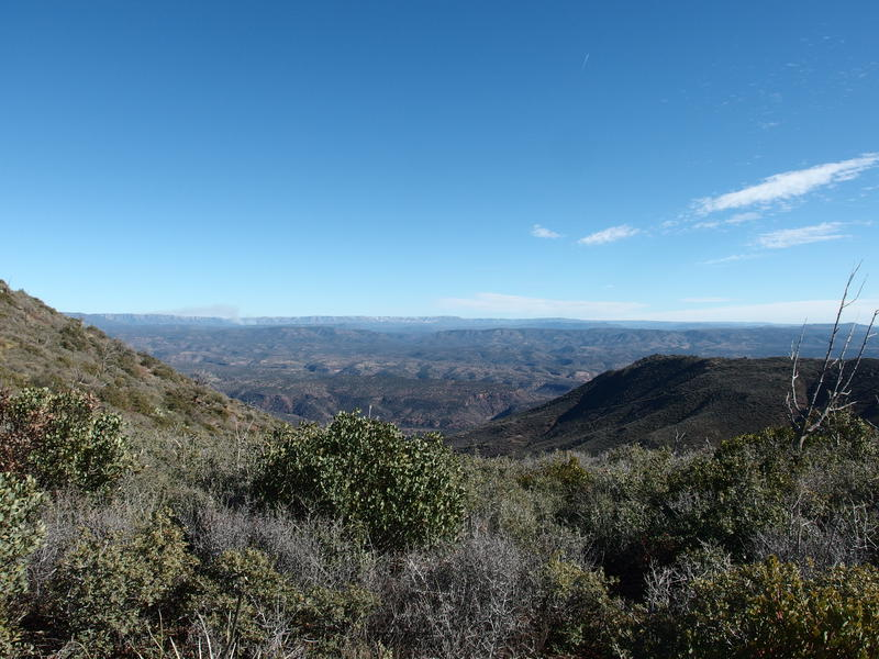 Looking east towards the Mogollon Rim