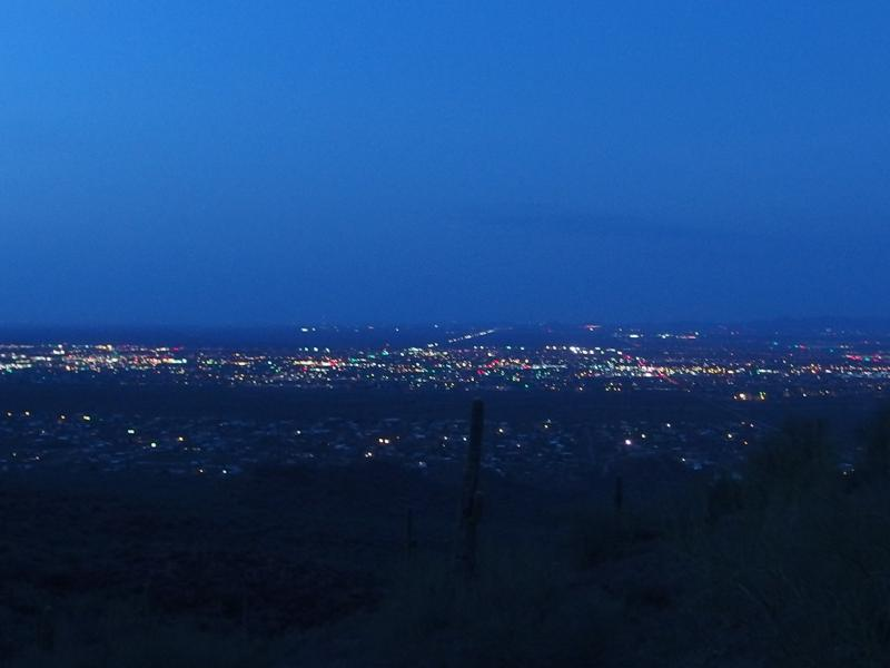 Dim morning light over Mesa