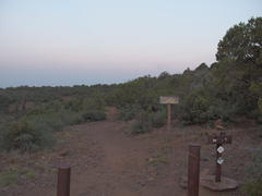 Dim morning light on Twin Buttes Trailhead