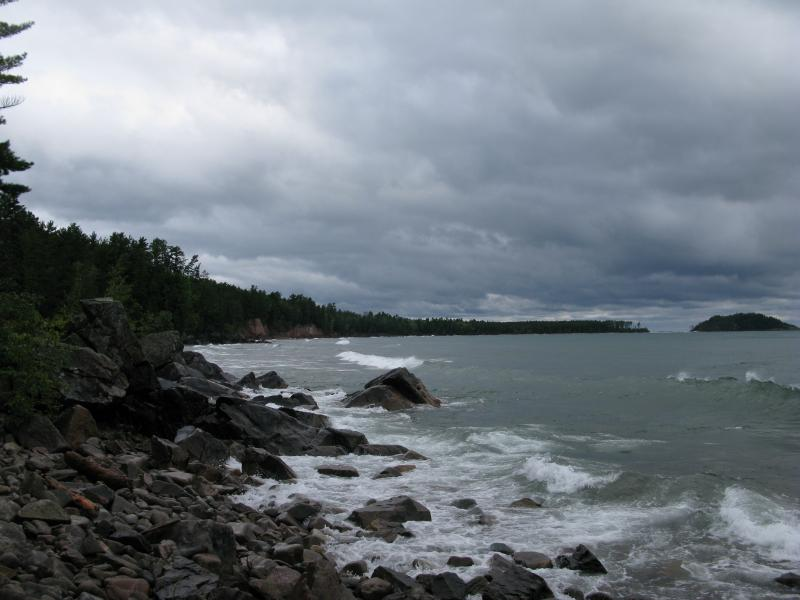 View north to Little Presque Isle