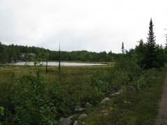 First view of Wetmore Pond from the grade
