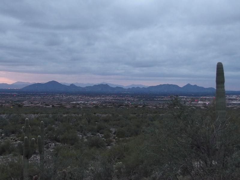 The long stretch of Scottsdale mountains