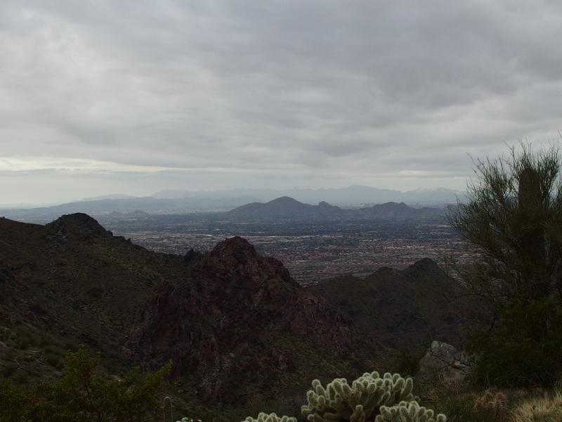 Down on distant Camelback